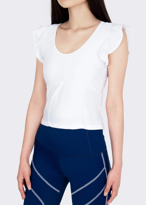 Cropped Barre White