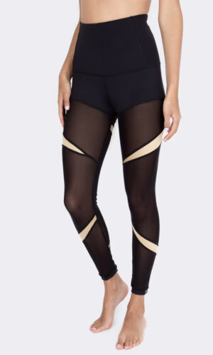 Leggings Anayansi Mesh Gold